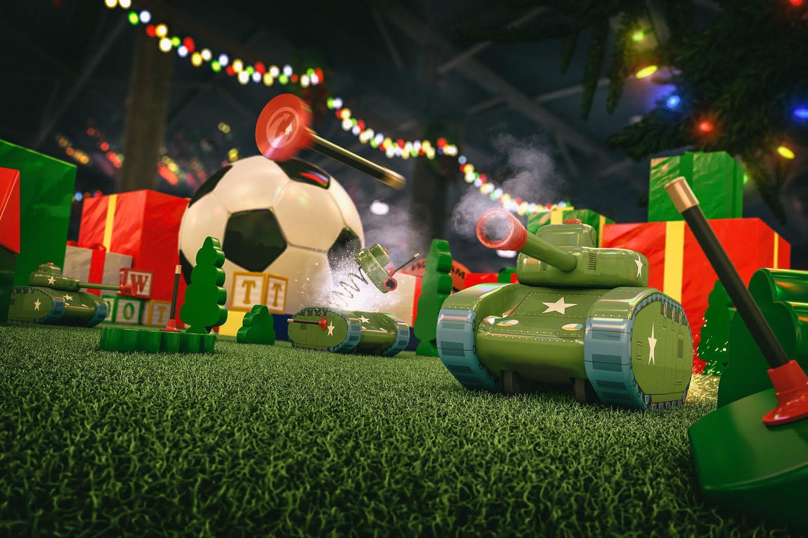 聖誕節限定的玩具戰車主題模式登場!