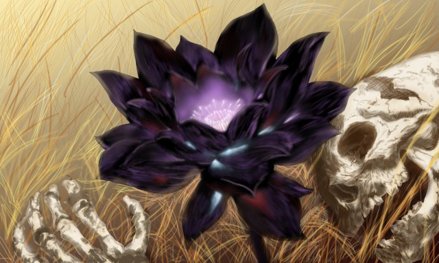好一朵美麗的黑蓮花…380 萬的紙