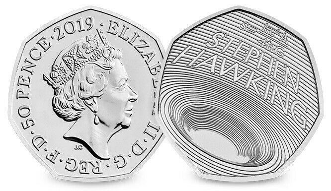 霍金逝世一週年紀念:英國發行 50 便士「黑洞硬幣」