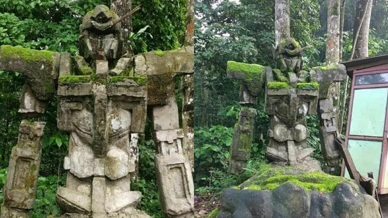 印尼森林中發現百年前的鋼彈石像?這倒底是…